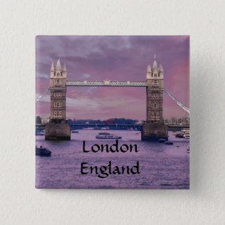 Badge Carré 5 Cm Pont de la tour de Londres