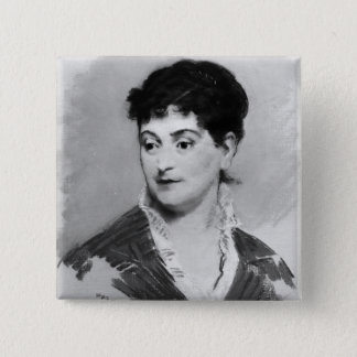 Badge Carré 5 Cm Portrait de Manet | de Madame Emile Zola, 1874