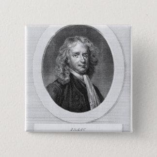 Badge Carré 5 Cm Portrait de monsieur Isaac Newton