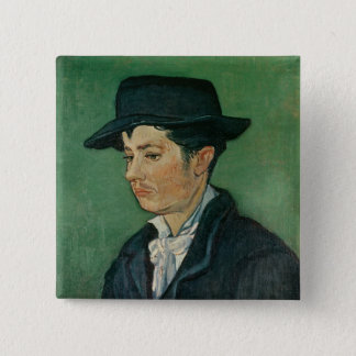 Badge Carré 5 Cm Portrait de Vincent van Gogh | d'Armand Roulin,