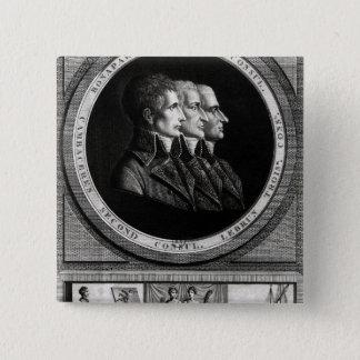 Badge Carré 5 Cm Portrait des trois consuls de la République