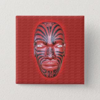 Badge Carré 5 Cm Prête-nom maori de canoë de guerre - bouton