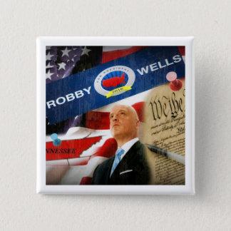 Badge Carré 5 Cm Puits de Robby pour le président 2016