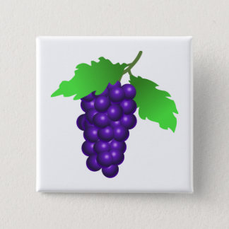 Badge Carré 5 Cm Raisins