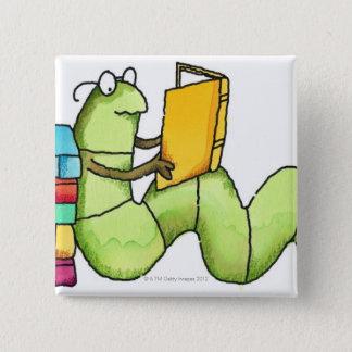 Badge Carré 5 Cm Rat de bibliothèque