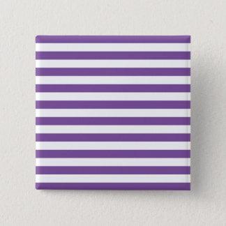 Badge Carré 5 Cm Rayures pourpres horizontales