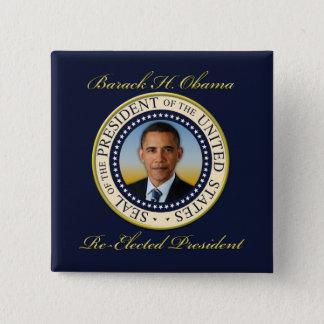 Badge Carré 5 Cm Réélection commémorative du Président Barack Obama