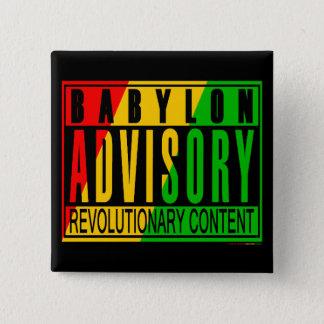 Badge Carré 5 Cm Reggae RASTA