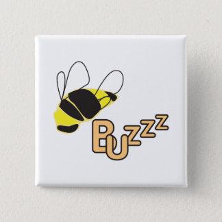 Badge Carré 5 Cm Reine des abeilles de ronflement
