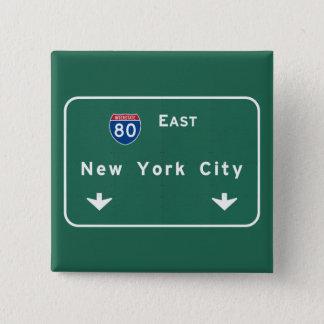 Badge Carré 5 Cm Route Sig d'autoroute d'autoroute nationale de New