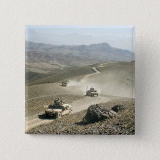 Badge Carré 5 Cm Routes rocailleuses transversales de montagne de
