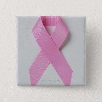 Badge Carré 5 Cm Ruban rose