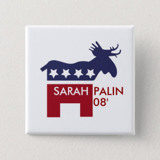 Badge Carré 5 Cm Sarah Palin 08'