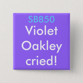Badge Carré 5 Cm SB850, VioletOakleycried !