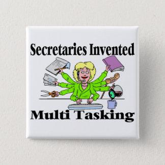 Badge Carré 5 Cm Secrétaire multi de tâche