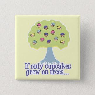 Badge Carré 5 Cm Si seulement petits gâteaux sur des arbres