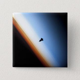 Badge Carré 5 Cm Silhouette d'effort de navette spatiale