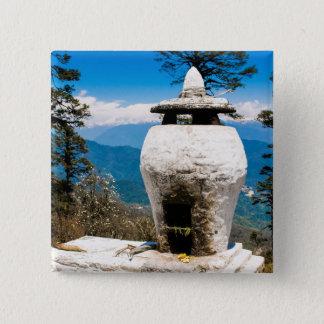Badge Carré 5 Cm Site bouddhiste de culte