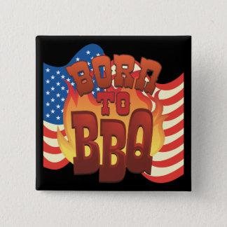 Badge Carré 5 Cm Soutenu au BBQ