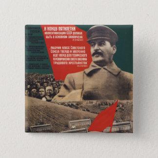 Badge Carré 5 Cm Stalin