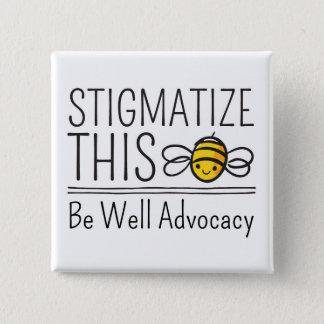 Badge Carré 5 Cm Stigmatisez ce bouton