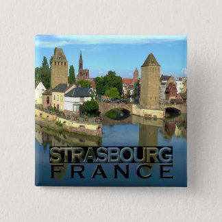 Badge Carré 5 Cm Strasbourg