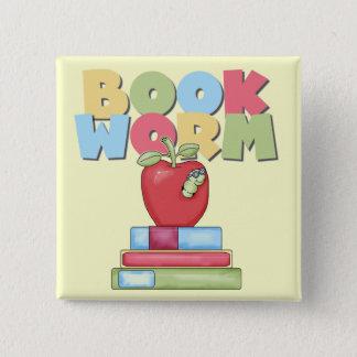 Badge Carré 5 Cm T-shirts et cadeaux de ver de livre
