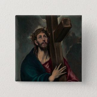 Badge Carré 5 Cm Transport de la croix