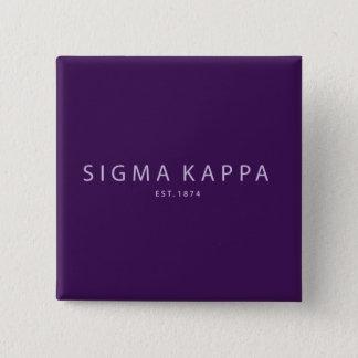 Badge Carré 5 Cm Type moderne de Kappa de sigma