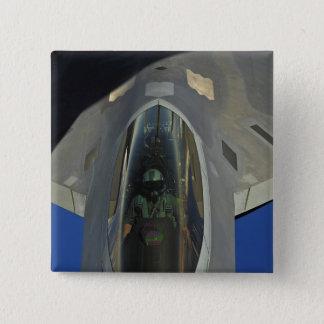 Badge Carré 5 Cm Un F-22 Raptor reçoit le carburant d'un KC-135