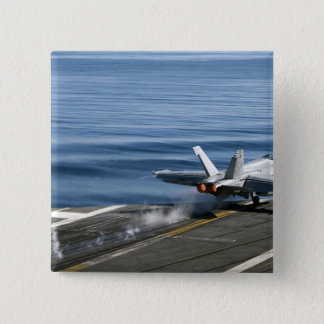 Badge Carré 5 Cm Un frelon superbe de F/A-18E