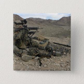 Badge Carré 5 Cm Un fusilier marin fournit la sécurité