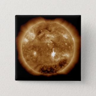 Badge Carré 5 Cm Une éruption chromosphérique de X-class massif