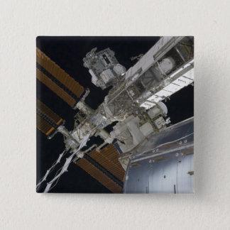 Badge Carré 5 Cm Une partie de la Station Spatiale Internationale 3
