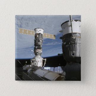 Badge Carré 5 Cm Vaisseaux spatiaux de Russe Soyuz et de progrès
