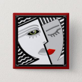 Badge Carré 5 Cm Venez ensemble (la goupille)
