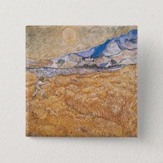 Badge Carré 5 Cm Vincent van Gogh | la moissonneuse