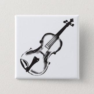 """Badge Carré 5 Cm Violon ou violon """"dessin """""""