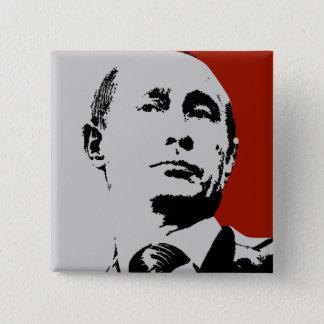 Badge Carré 5 Cm Vladimir Poutine rouge