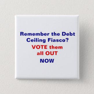 Badge Carré 5 Cm Votez-les tous maintenant