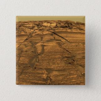 Badge Carré 5 Cm Vue de falaise de brûlures sur Mars