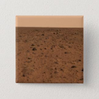 Badge Carré 5 Cm Vue panoramique de cratère de Bonneville