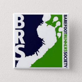 Badge Carré blanc de pied de coureurs de Soc de logo aux