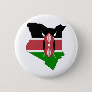 Badge Carte de drapeau du Kenya normale