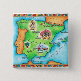 Badge Carte de l'Espagne