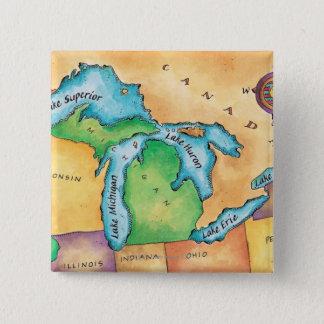 Badge Carte des Great Lakes
