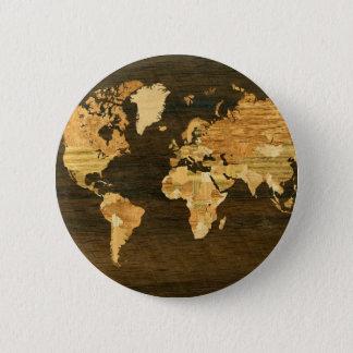 Badge Carte en bois du monde