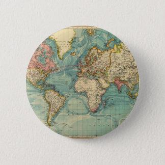 Badge Carte vintage du monde