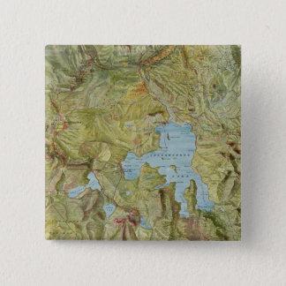 Badge Carte vintage du parc national de Yellowstone