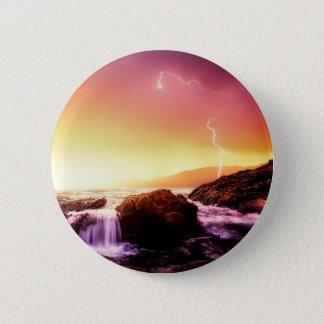 Badge cascade et coucher du soleil de la Californie
